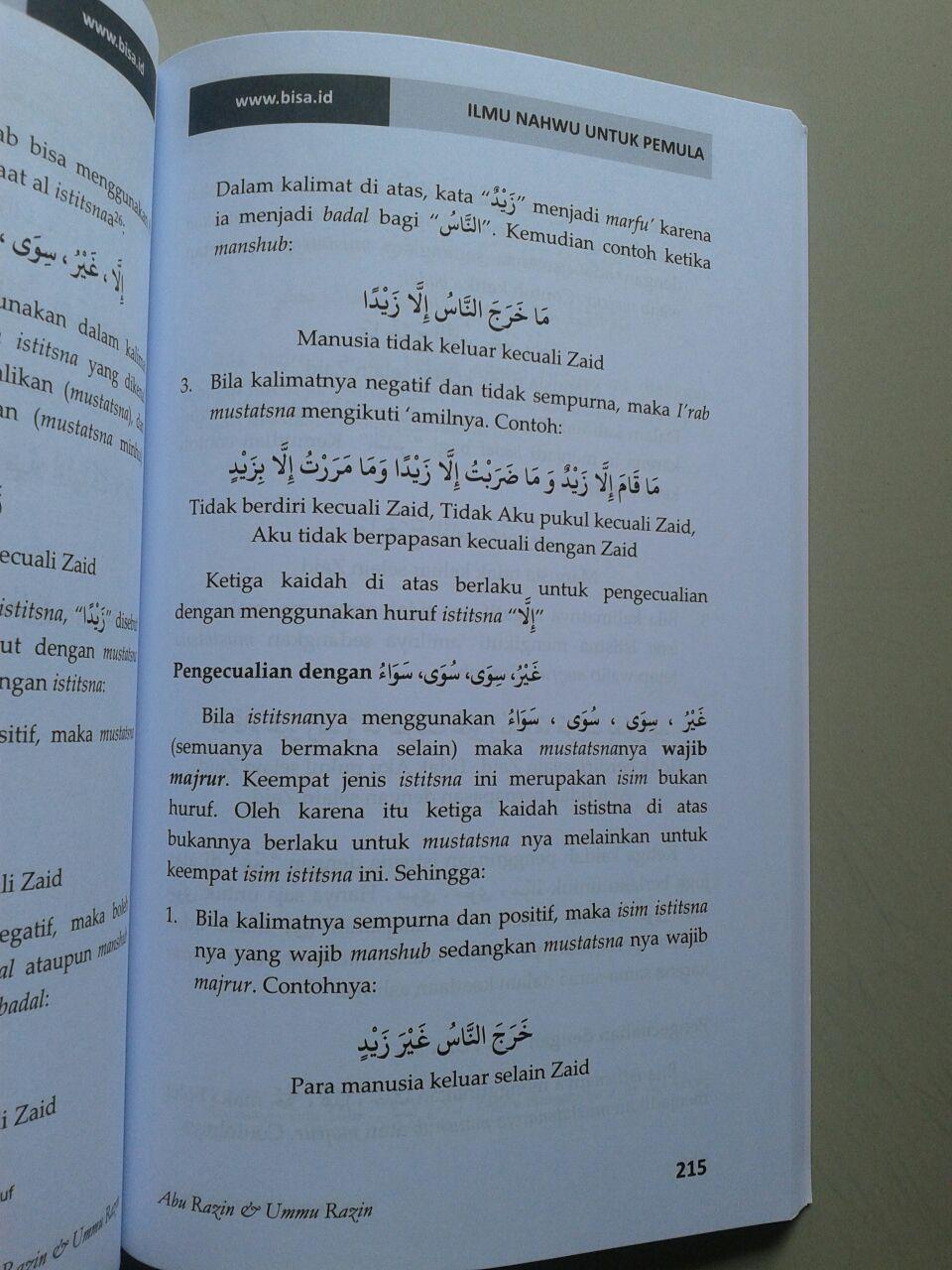 Buku Ilmu Nahwu Untuk Pemula isi 4