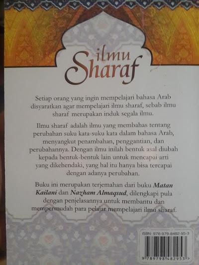 Buku Ilmu Sharaf Terjemah Matan Kailani Dan Nazham Almaqsud Cover 2