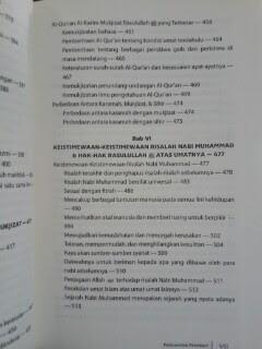 Buku Iman Kepada Rasul Daftar Isi