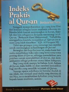 Buku Indeks Praktis Al-Quran Berdasarkan Tema Cover 2