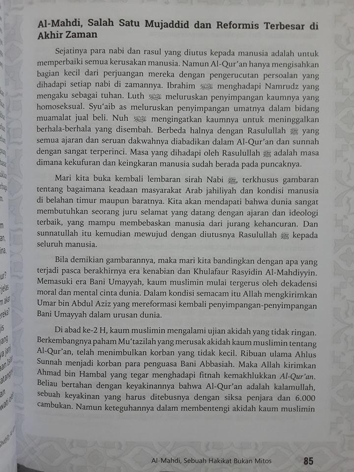 Buku Inikah Al-Mahdi Yang Dijanjikan Isi 2