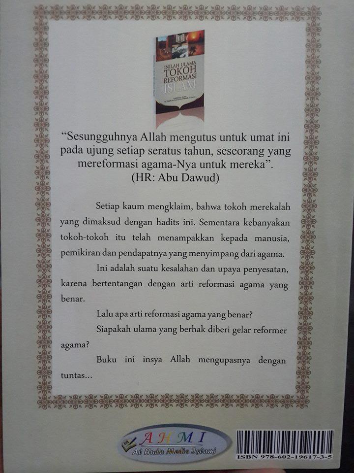 inilah ulama tokoh reformasi Islam buku cover 2