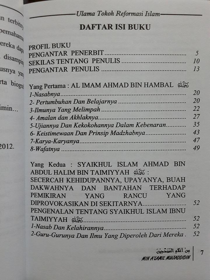 inilah ulama tokoh reformasi Islam buku isi 2