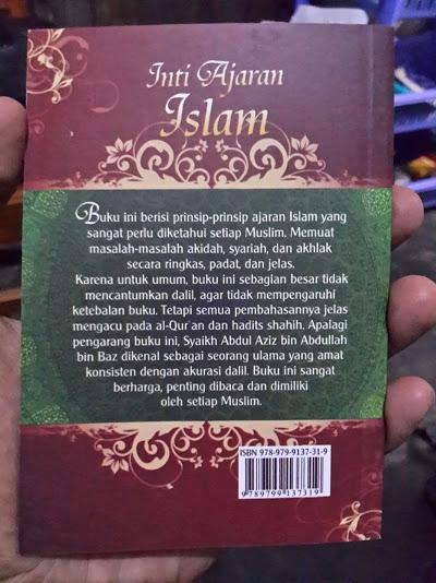 Buku Saku Inti Ajaran Islam Cover Belakang