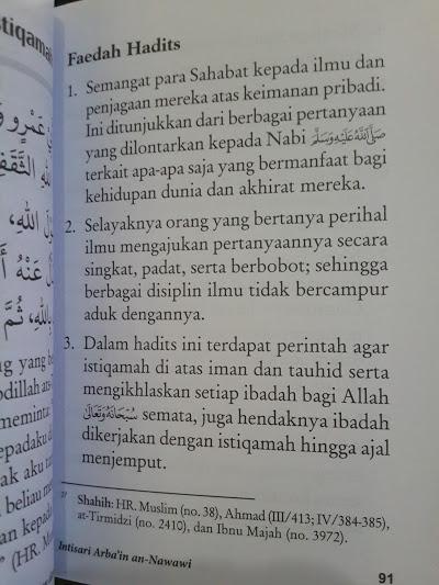 Buku Intisari Arba'in An-Nawawi Isi