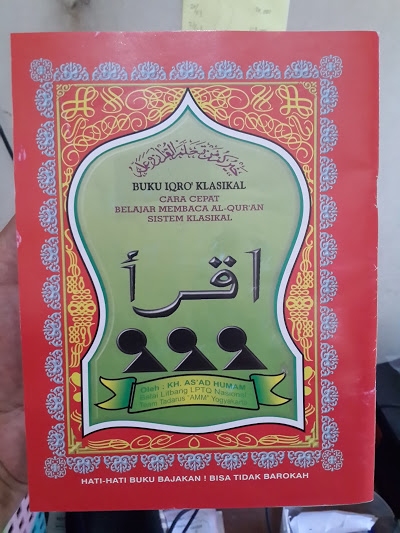 Buku Iqro Klasikal Cara Cepat Belajar Membaca Al-Qur'an Cover