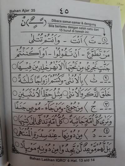 Buku Iqro Klasikal Cara Cepat Belajar Membaca Al-Qur'an Isi 2