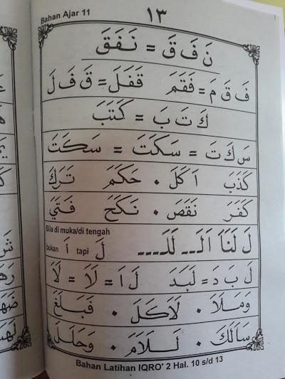 Buku Iqro Klasikal Cara Cepat Belajar Membaca Al-Qur'an Isi