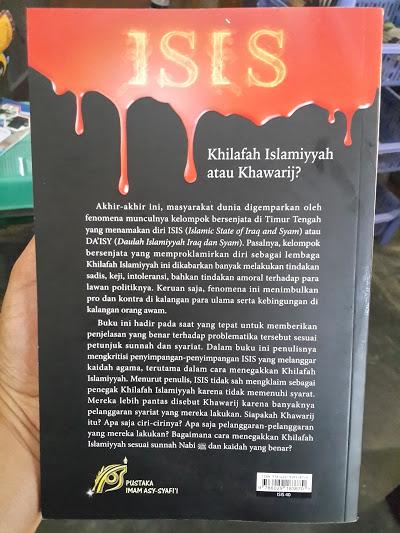 Buku ISIS Khilafah Islamiyyah Atau Khawarij Cover Belakang