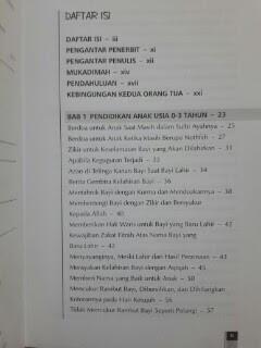 Buku Islamic Parenting Pendidikan Anak Metode Nabi Daftar Isi
