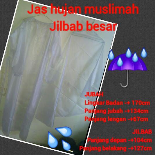 Jas Hujan Muslimah Plus Jilbab Besar Brosur