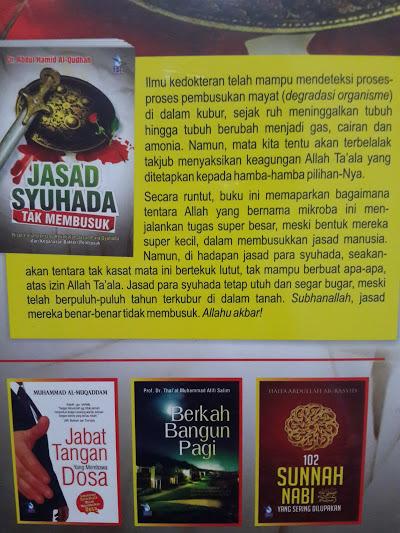 Buku Jasad Syuhada Tak Membusuk Cover Belakang