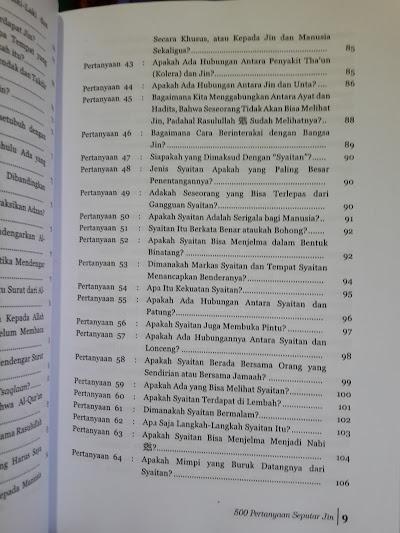 Buku Jin Dan Sihir Tanya Jawab Masalah Jin Dan Sihir Daftar Isi