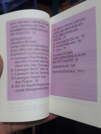 Buku Jual Beli Kredit Bagaimana Hukumnya Daftar Isi