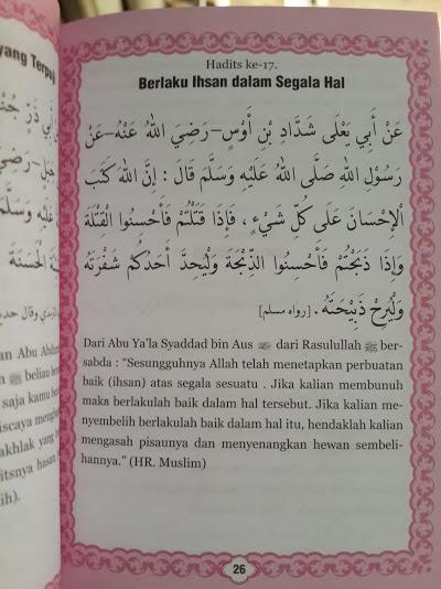 Buku Saku Al-Qur'an Juz 28,29,30 Dan Arbain An-Nawawi Isi 2