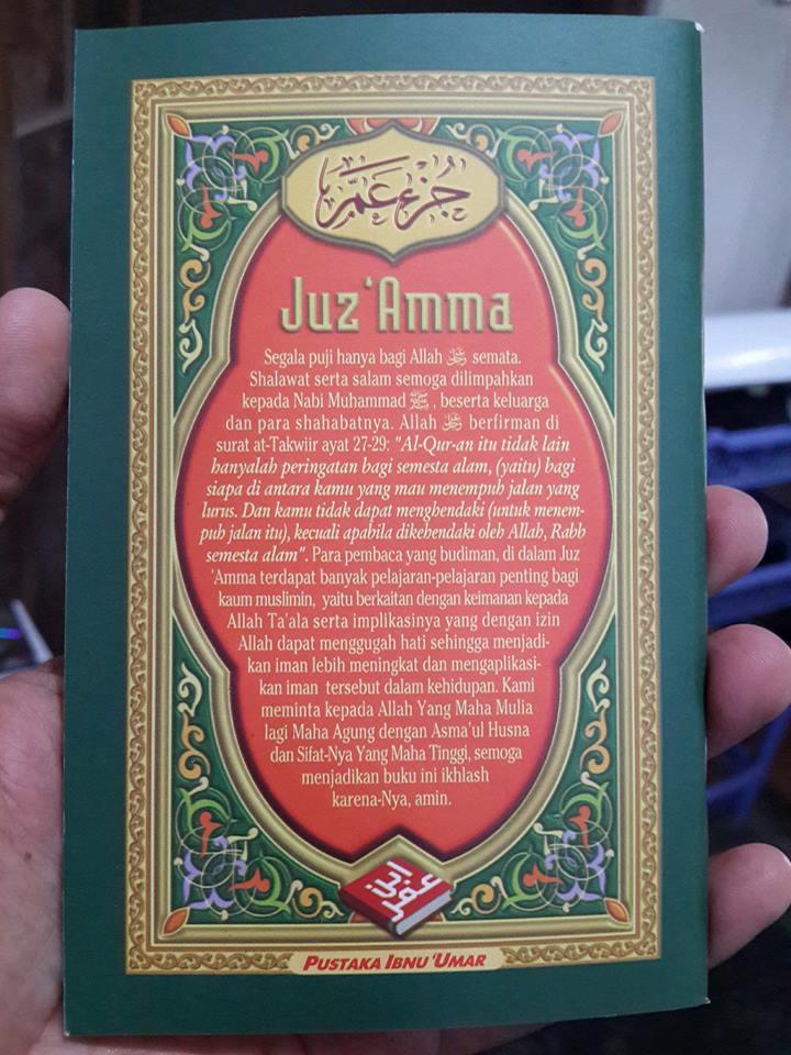 Buku Saku Juz Amma Dan Terjemahnya Lux Cover 2