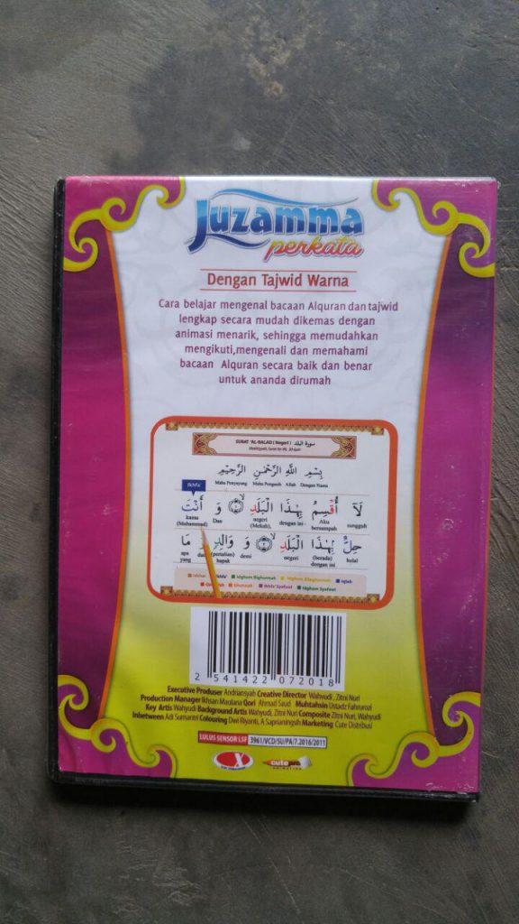 Video DVD Juz Amma Perkata Dengan Tajwid Warna cover 2