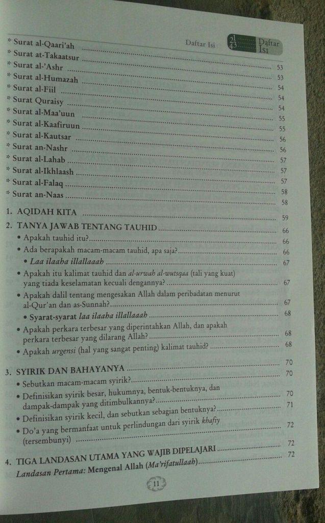 Buku Juz Amma Tafsir Singkat & Terjemah Serta 31 Bab Penting isi 6