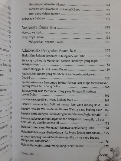 Buku Kado Pernikahan Mempelai Daftar Isi