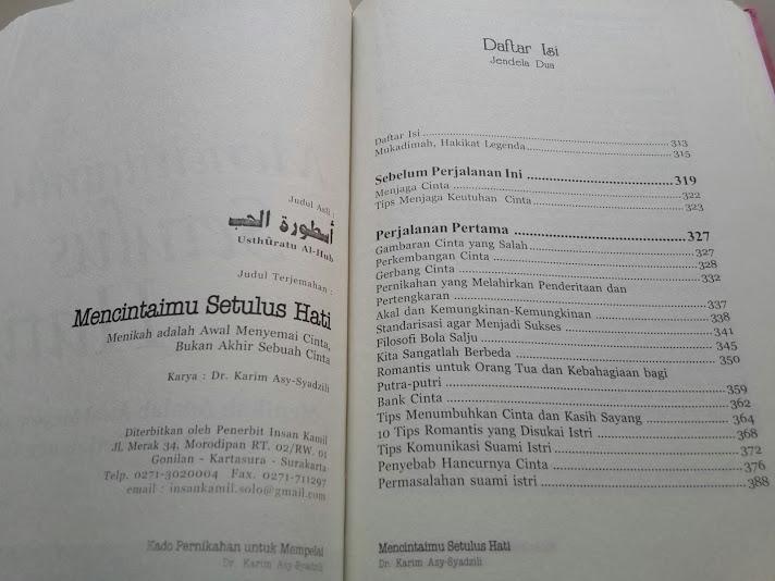 Buku Kado Pernikahan Untuk Mempelai Daftar Isi 2