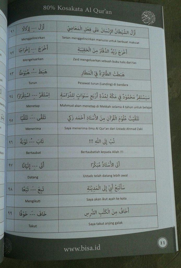 Buku Kamus Kecil 80 % Kosa Kata Al-Qur'an isi
