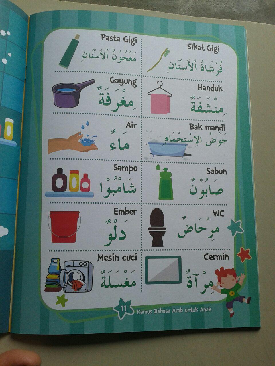 Buku Kamus Arab Untuk Anak Kosa Kata Sehari Hari Dilengkapi Gambar isi 3