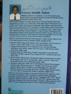 Kamus Jamak Taksir Arab-Indonesia Indonesia-Arab Cover Belakang