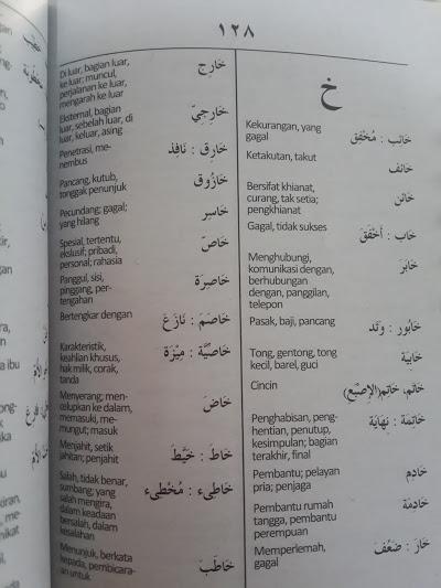 Buku Kamus Mahir Arab - Indonesia Isi
