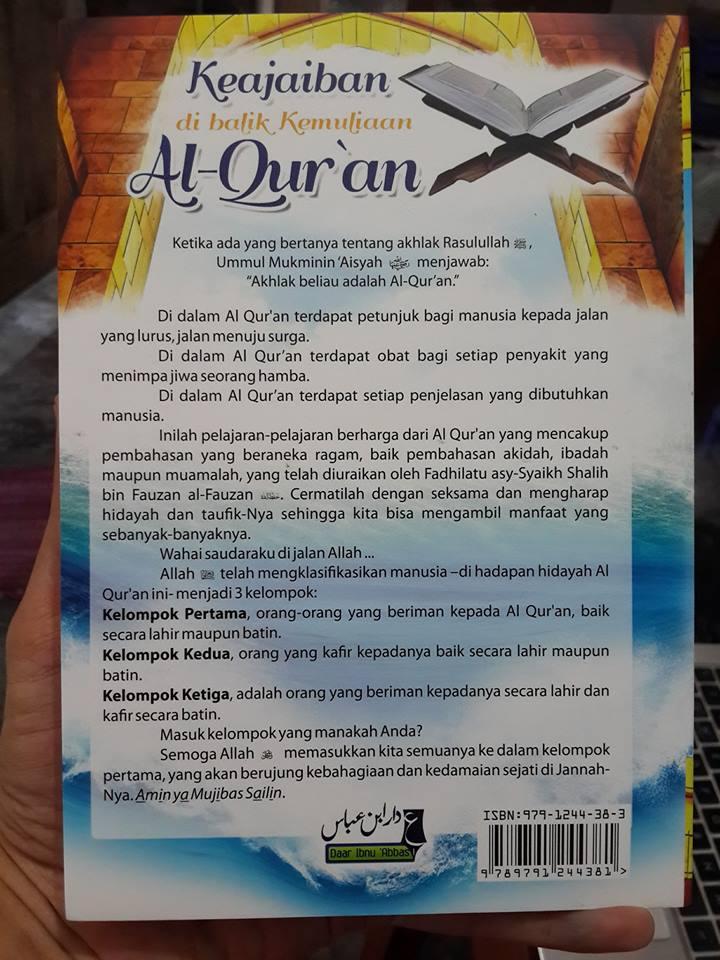 keajaiban dibalik kemuliaa al-Qur'an buku cover 2