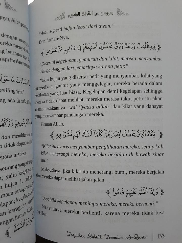 keajaiban dibalik kemuliaa al-Qur'an buku isi