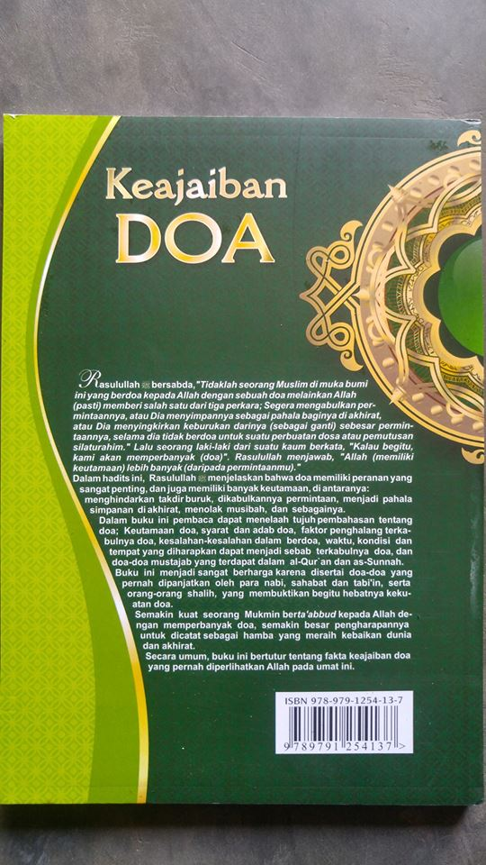 Buku Keajaiban Doa Mengungkap fakta Keampuhan Doa cover 2