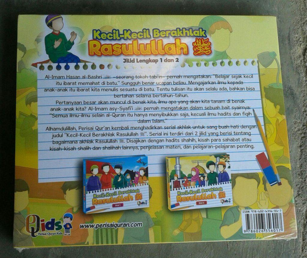 Buku Anak Kecil-Kecil Berakhlak Rasulullah cover
