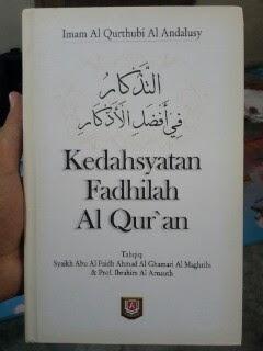 Buku Kedahsyatan Fadhilah Al-Qur'an Cover