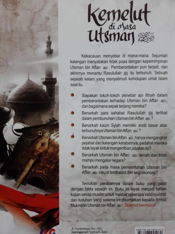 Buku Kemelut Di Masa Utsman bin Affan Cover 2