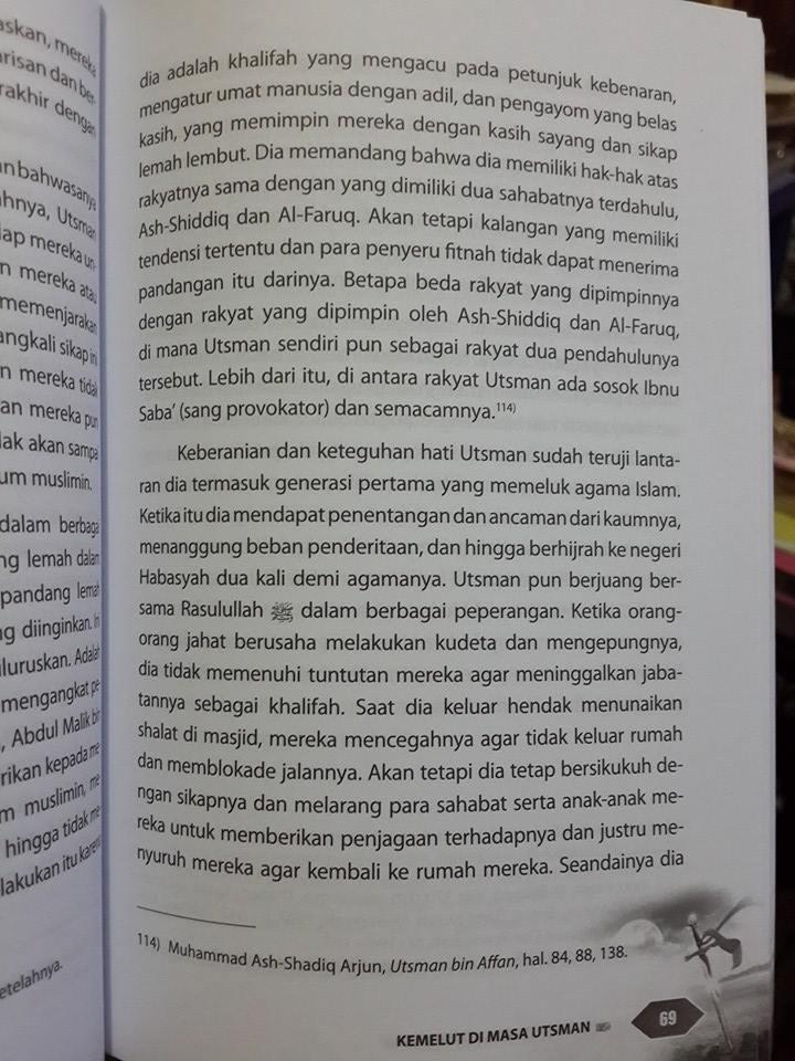 Buku Kemelut Di Masa Utsman bin Affan Isi