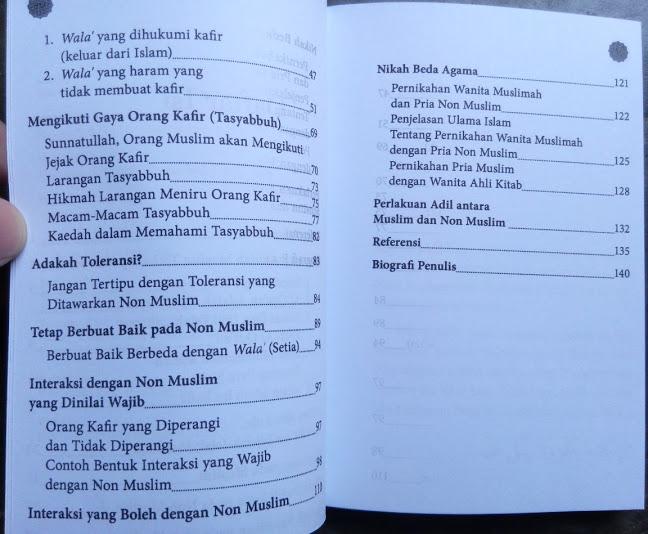 Buku Saku Kesetiaan Pada Non Muslim Sikap Pada Non Muslim Daftar Isi