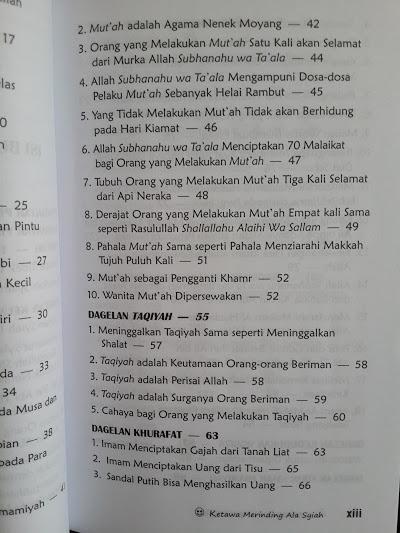 Buku Ketawa Merinding Ala Syiah Daftar Isi