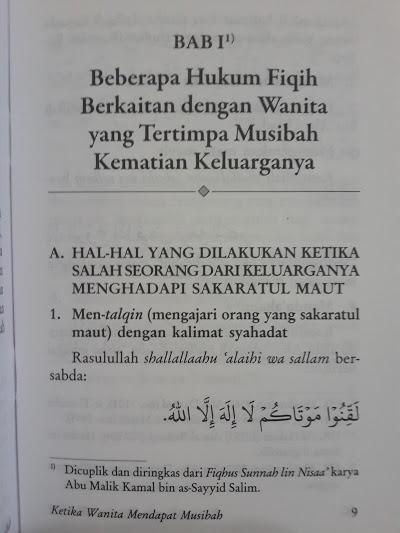 Buku Saku Ketika Wanita Mendapat Musibah Isi 1