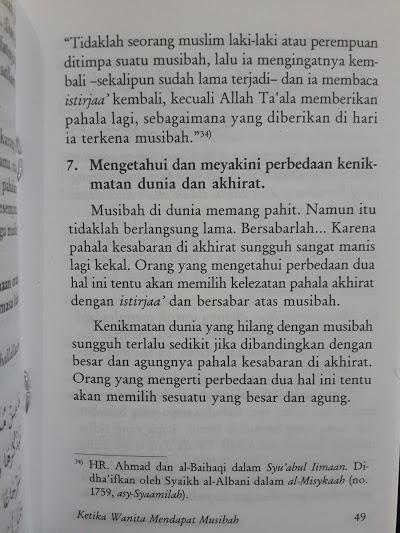 Buku Saku Ketika Wanita Mendapat Musibah Isi