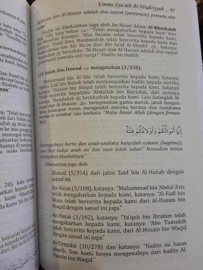Buku Keutamaan Ahlul Bait Rasulullah Dari Riwayat Shahih Isi