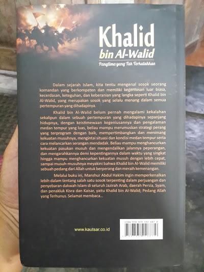 Buku Khalid Bin Al-Walid Panglima Yang Tak Terkalahkan Cover Belakang