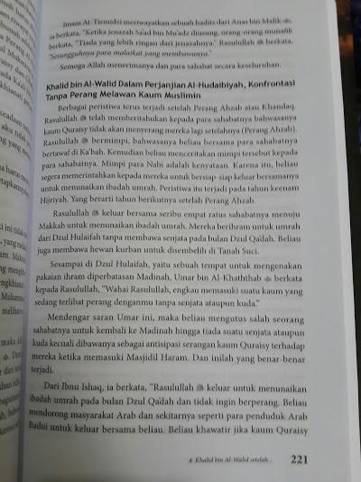Buku Khalid Bin Al-Walid Panglima Yang Tak Terkalahkan Isi