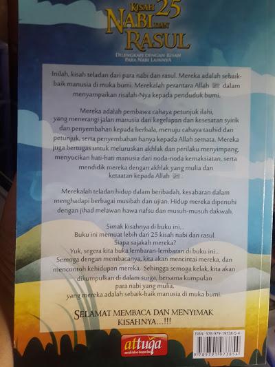 Buku Anak Kisah 25 Nabi Dan Rasul Dan Nabi Lain Cover 2