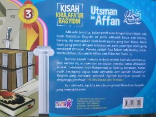 Buku Anak Kisah Khulafaur Rasyidin Cover Belakang