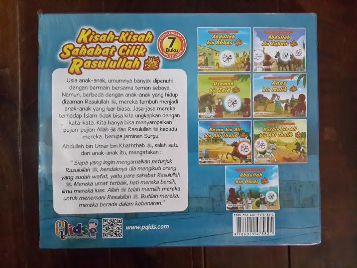 Buku Anak Kisah-Kisah Sahabat Cilik Rasulullah Cover Belakang