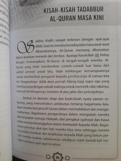 Buku Kisah-Kisah Tadabbur Al-Qur'an Masa Kini Isi