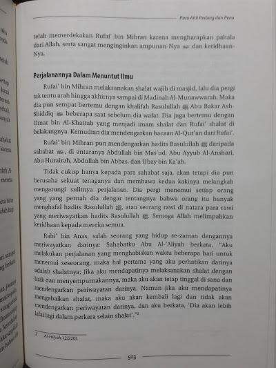 Buku Kisah Para Tabi'in Isi