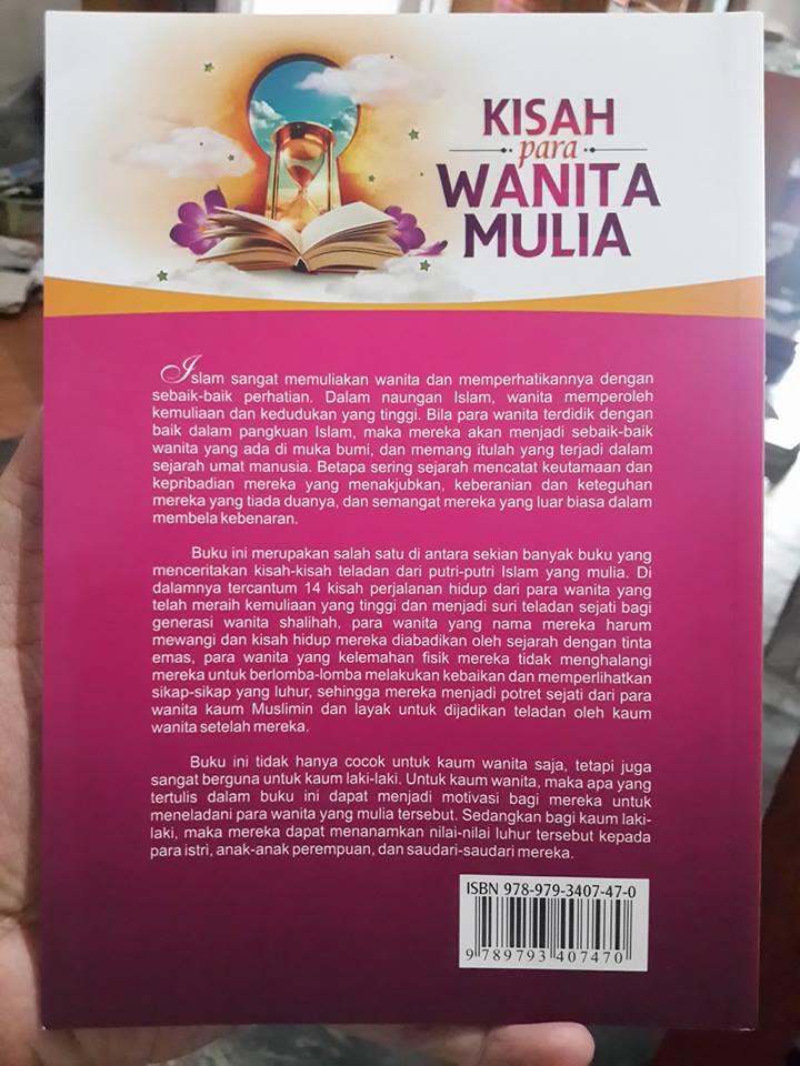 Buku Kisah Para Wanita Mulia Dalam Sejarah Islam Cover 2