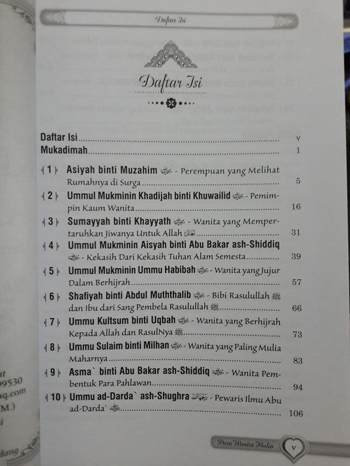 Buku Kisah Para Wanita Mulia Dalam Sejarah Islam Daftar Isi