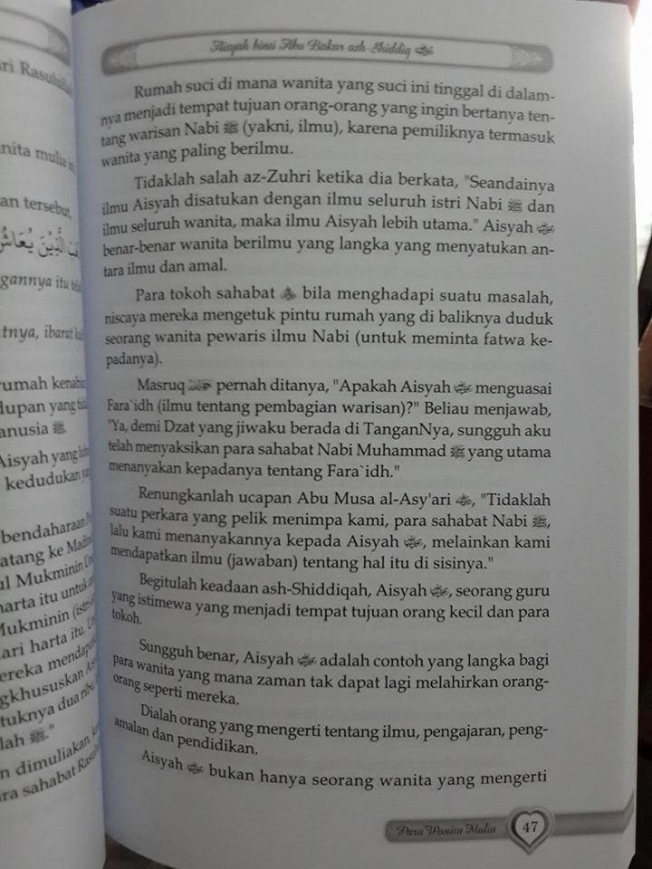 Buku Kisah Para Wanita Mulia Dalam Sejarah Islam Isi